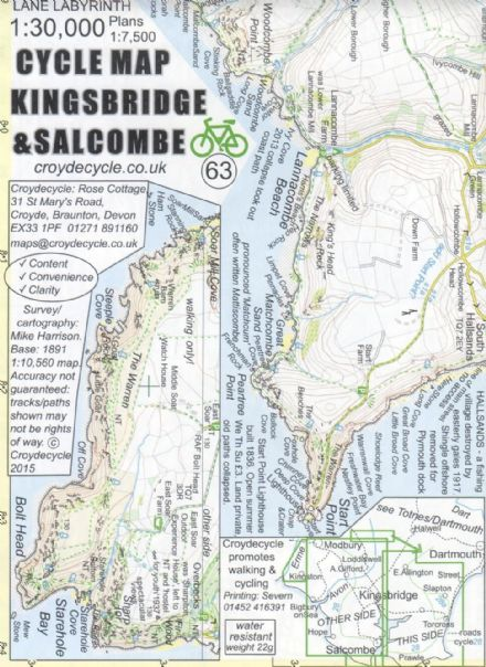 Kingsbridge & Salcombe Cycling Map
